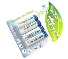 BPI AA 2700mAh 4-Pack Rechargeable Batteries - HIGH CAPACITY Nickel-Metal Hydride (NiMH) Chemistry Voltage of 1.2V and a capacity of 2700mAh Batteries can be recharged hundreds of times, and because they have memory-free operation, the will not develop memory effect, which can cause batteries to hold less charge These batteries will retain a charge at or near full capacities even after hundreds of charges OUR PRODUCT CODE: LSA-RE2700MAH