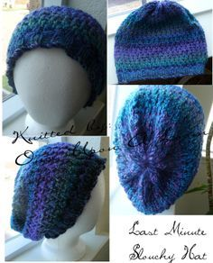 Free Knifty Knitting Loom Patterns | Once Upon A Loom: Last Minute Slouch Hat