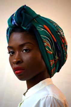beautiful woman and beautiful head scarf. i wish i could rock a head scarf like she does!