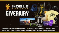 Just out this amazing gaming giveaway where you can win a gaming chair, Geforce GTX 1080ti, Nvidia Shield, Logitech Headset and more!