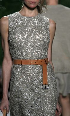 I love the contrast of the sparkles and utilitarian belt