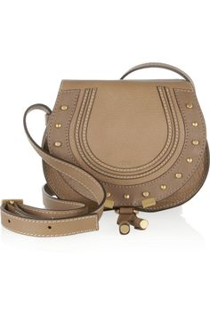 Chloé | The Marcie mini studded textured-leather shoulder bag | NET-A-PORTER.COM