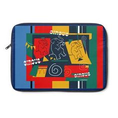 My Circus Buddies Laptop Sleeve Re and Blue