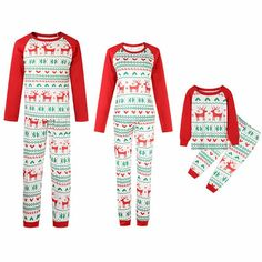 d38acccf7797 Christmas Family matching clothes Deer Printed Mom dad Kids matching  outfits family Christmas pajamas Mommy and me clothes