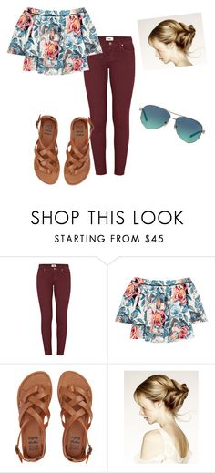 """Flower power"" by samanthajm03 ❤ liked on Polyvore featuring Paige Denim, Elizabeth and James, Billabong and Tiffany & Co."