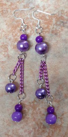 Perlas colgantes (morado)