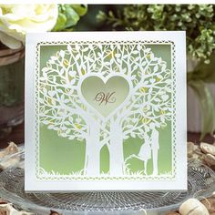 Cheap romantic love cards, Buy Quality love cards directly from China card card Suppliers: 50pcs/lot hot sale love tree two people romantic Laser Cut Wedding Invitation Card with low price luxurious wedding invitation