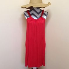 • Spense • Spense dress. Cherry red. Pretty neckline that can move. Cute for a cover up too !! Excellent condition. Spense Dresses Midi