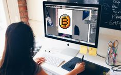 Pixelated Bitcoin Logo Gets Painted on the R/Place Canvas Experiment #Bitcoin #bitcoin #canvas