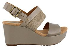Clarks Womens Caslynn Kat Wedge Sandal Sage 85 M US *** You can find out more details at the link of the image.