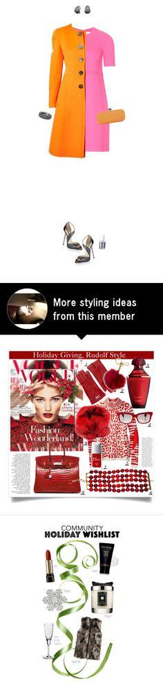 """Victoria Beckham Pink Dress"" by maxfield on Polyvore featuring moda, Victoria, Victoria Beckham, Jimmy Choo, Essie, David Yurman e Bottega Veneta"