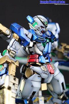 MODELER: Luke Han  MODEL TITLE:  Maximum Exia  MODIFICATION TYPE: custom details, kit bash, custom color scheme  KITS USED:  RG 1/144 Gundam...