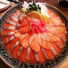 Sashimi Sushi, Asian Recipes, Ethnic Recipes, Cantaloupe, Food And Drink, Fruit, Asian Food Recipes