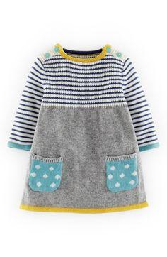 Main Image - Mini Boden Sweet Knit Sweater Dress (Baby Girls)