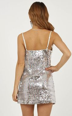 510cb7858b2 Virgo Rising Dress In Rainbow Sequin Produced