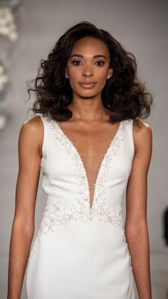 inspired wedding dresses in the Theia Spring 2020 Bridal Collection. These retro-inspired Theia wedding dresses are timeless and fresh for Stunning Wedding Dresses, Wedding Dress Styles, Designer Wedding Dresses, V Neck Wedding Dress, Fit And Flare Wedding Dress, Theia Bridal, Bridal Gowns, Ball Skirt, Spring Dresses