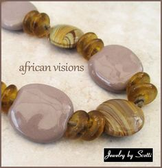 Dark Lavender Sunstone Necklace // African by JewelryByScotti