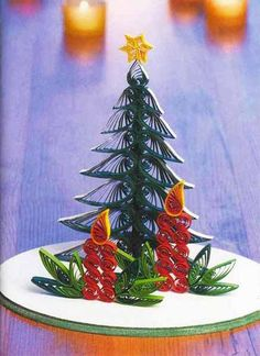 Christmas Crafts For Adults | Miniature Christmas tree design, paper crafts for kids and adults