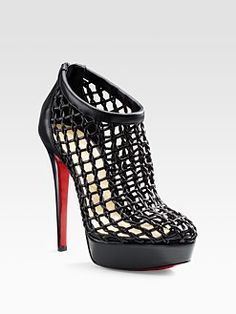 Christian Louboutin  Coussin Caged Ankle Boots $1595