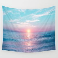 Pastel vibes 13 Wall Tapestry by Viviana Gonzalez - Small: x Tapestry Bedroom, Tapestry Wall Hanging, Tapestry Beach, Ocean Themes, Beach Themes, College Room, Dorm Room, Beach Room, My New Room