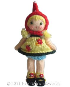 "6"" knit doll paper ravelry $4.75 pattern"