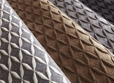 Carnegie Cache wool embroidered wallcovering | 5 colorways