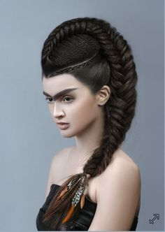 45 Undercut Hairstyles with Hair Tattoos for Women Women undercut hairstyles is the latest hairstyle trend of 2017 that has attracted the attention of millions of women who want to try out something new and. Creative Hairstyles, Trendy Hairstyles, Hairstyles 2016, Avant Garde Hairstyles, Undercut Hairstyles, Braided Hairstyles, Fantasy Hairstyles, Hairstyle Braid, Peinado Updo
