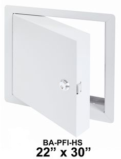 "22"" x 30"" - High Security Fire Rated Insulated Access Door with Flange - Best Access Doors"