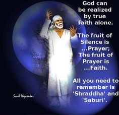 Sometimes you have to stop worrying, wondering, and doubting. *Have faith* that things will work out, maybe not how you planned, but just how it's meant to be. This is not the time to shrink back in fear. Move forward in faith. Get up every morning knowing you are gifted and protected by Lord Sai. Om Sai Ram. Have a great week ahead!  http://saimandir.co.in/download-ebooks/