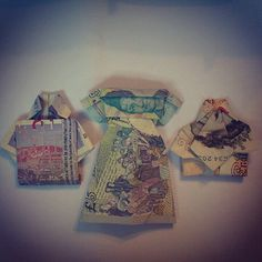 Miss having time to be creative. Money origami!