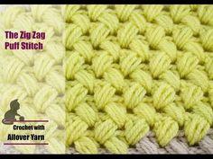 How to crochet the Zig Zag Puff Stitch - YouTube
