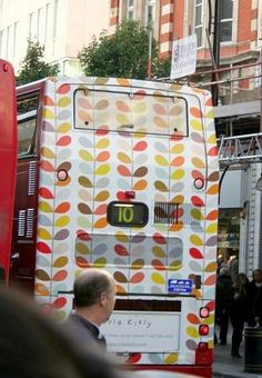 orla kiely-patterned bus