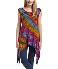 Loving this Purple & Blue Tie-Dye Sidetail Tunic - Plus Too on #zulily! #zulilyfinds