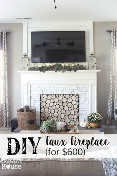 DIY Faux Fireplace f