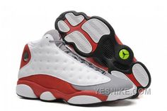 Authentic Air Jordan 13 Retro White Black-True Red Free Shipping