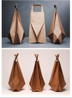 Origami brown paper bags by Ilvy Jacobs