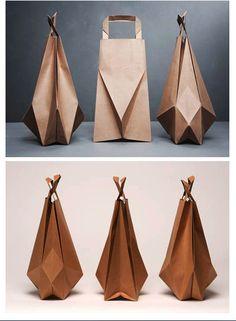 origami paper bags via nauli