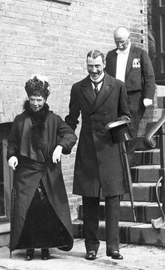 Kejserinde Dagmar, Kong Christian X, Empress Dagmar with her nephew King Christian X Caption Kejserinde Dagmar (Zarina Maria Feodorovna) af ...
