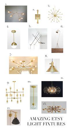 Amazing Etsy Lighting | elements of style | Bloglovin
