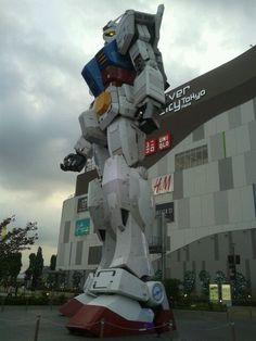 1:1 Gundam statue....anyway, not a big fan of it