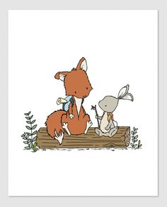 Lets Be Adventurers - Woodland Nursery Art - by Sweet Melody Designs