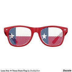 Lone Star ★ Texas State Flag Wayfarer Sunglasses