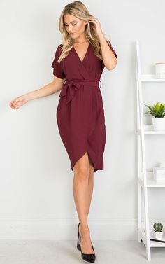 Showpo All Shook Up Dress in Wine - Burgundy Bridesmaid, Bridesmaid Dresses, Bridesmaids, Wine Dress, Playsuits, Summer Outfits, Party Outfits, Dress Skirt, Work Wear