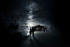 "UVA Transforms Sou Fujimoto's Serpentine Pavilion with ""Electrical Storm"" of LEDs"