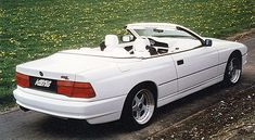 BMW 850 white custom convertible