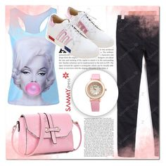 """""""Love Pink"""" by mini-kitty ❤ liked on Polyvore featuring sammydress"""
