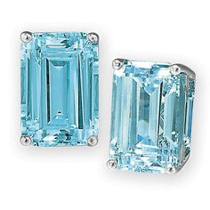 Blue Topaz Collection Earrings (Silver) $159
