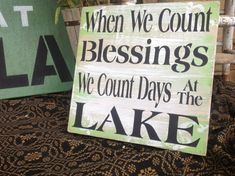 Lake sign lake house sign by KerriArt on Etsy, $20.00