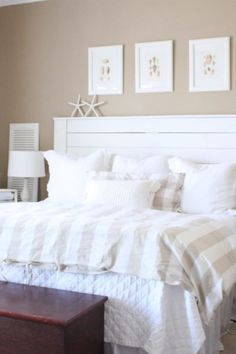 Elegant DIY: Shiplap Headboard | Starfish Cottage Coastal Decor