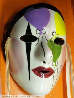 """New Orleans' Mardi Gras Mask I,"" c.2014 by Mark Kokopelli Watkins, Artist on ARTwanted"